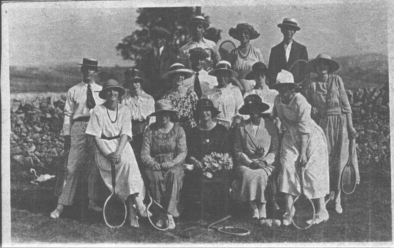 Fairfield Tennis club in the 1880s